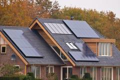 Solar panels on  house Royalty Free Stock Photos