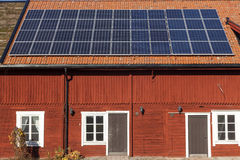 Solar panels on a house Royalty Free Stock Photography