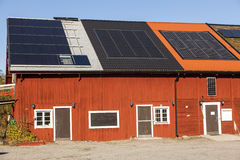 Solar panels on a house Royalty Free Stock Images
