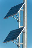 Solar panels. Installation of two small solar panels Royalty Free Stock Photo