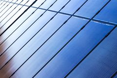 Solar panels installed on roof royalty free stock photography