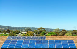Solar panels installed on the roof. In South Australia Royalty Free Stock Photography