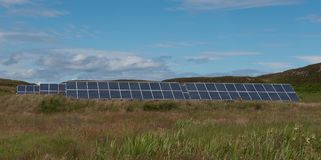 Solar panels, Isle of Muck Royalty Free Stock Images