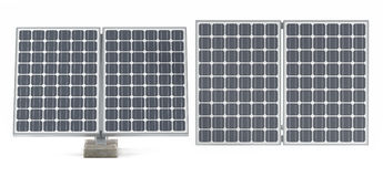 Solar panels isolated Stock Images