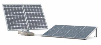 Solar panels isolated Stock Photo