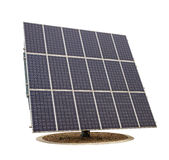 Solar panels isolated on white background Royalty Free Stock Photos