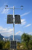 Solar panels in the Italian mountains Royalty Free Stock Photos