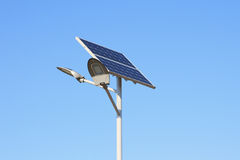 Solar panels with led lamp Royalty Free Stock Photography