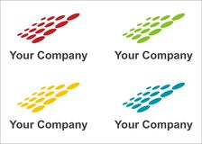 Solar panels logo. In four colors Stock Photo