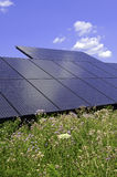 Solar Panels - making use of altenative energy through distributed solar power Stock Image