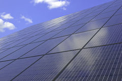 Solar Panels - making use of altenative energy through distributed solar power Stock Photo