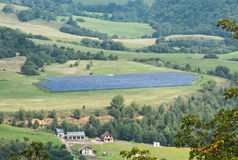 Solar panels in a meadow Stock Photography