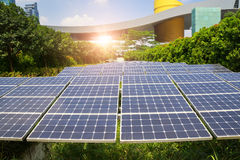 Solar Panels In Modern City Royalty Free Stock Photos