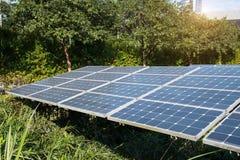 Solar Panels In Modern City Royalty Free Stock Photo