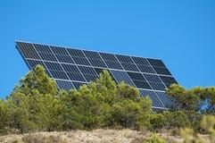 Solar panels on the mountain Stock Photo
