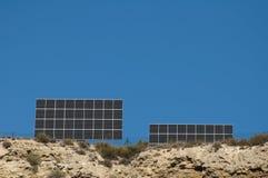 Solar panels on the mountain Stock Photos