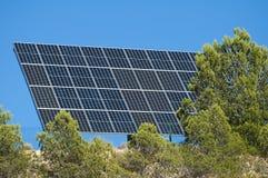 Solar panels on the mountain Stock Image