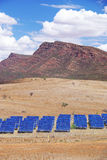 Solar Panels & Mountains Stock Photo