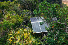Solar panels in the mountains. Krabi, Thailand Stock Photography