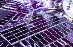 Solar panels at NASA rover Opportunity Stock Photos
