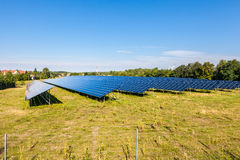 Solar panels. Natural resources and environment Royalty Free Stock Images