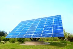 Solar panels in the nature Stock Photography