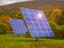 Solar panels in nature Stock Photos