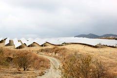 Solar panels near Nijar in Andalusia, Spain Stock Photos