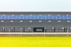 Solar panels on a new farm barn Stock Photography