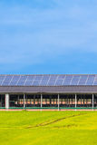 Solar panels on a new farm barn Royalty Free Stock Photo