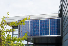 Solar panels on office building Stock Photography