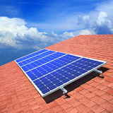 Solar Panels On The Roof Royalty Free Stock Photos