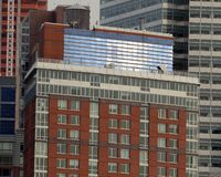 Solar Panels One Riverhouse NYC Tom Wurl royalty free stock images