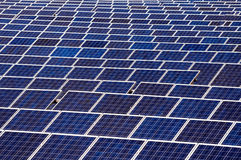 Solar Panels. On open space Royalty Free Stock Photography