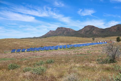 Solar panels in the outback Royalty Free Stock Photo