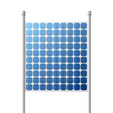 Solar Panels outdoor suare Building Royalty Free Stock Photo