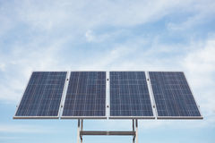 Solar panels in the outdoors Royalty Free Stock Images