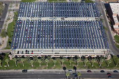 Solar Panels over parking garage Stock Photography