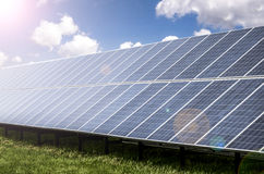 Solar panels, clean energy Royalty Free Stock Photo