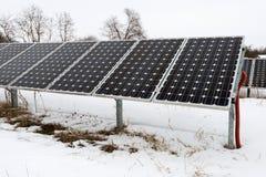 Solar panels, photovoltaic - alternative electricity source. Selective focus, copy space Stock Images