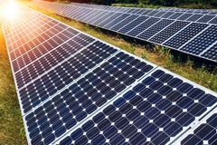Solar panels, photovoltaic - alternative electricity source Stock Photography