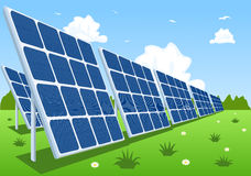 Solar panels or photovoltaic modules Stock Images