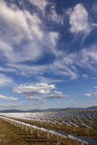 Solar panels. Picture with solar panels Royalty Free Stock Image