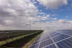 Solar panels. Picture with solar panels Stock Photography