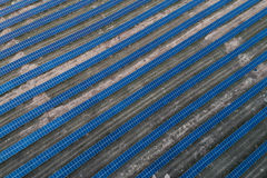 Solar panels placed on a countryside meadow. Stock Photography