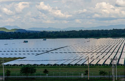 Solar panels plant Stock Image