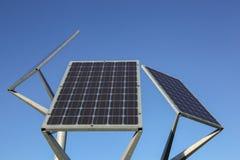 Solar panels on a pole Royalty Free Stock Photos