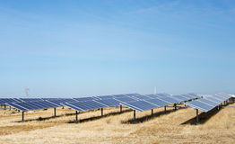 Solar panels in portugal Royalty Free Stock Images