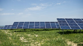 Solar panels. In solar power elecricity Stock Images