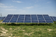 Solar panels. In solar power elecricity Stock Photography